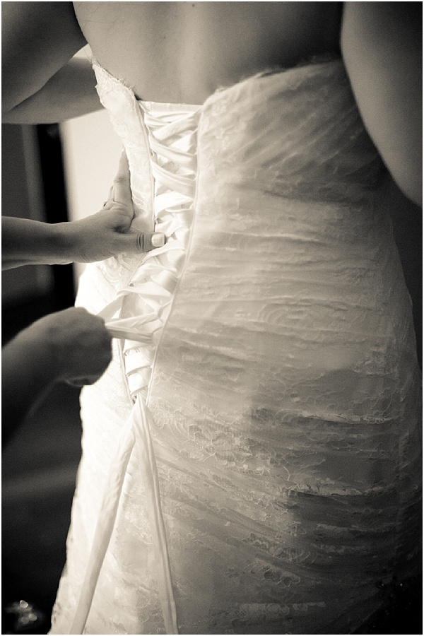 lacing up wedding dress
