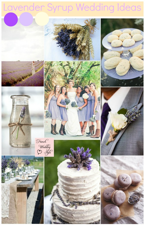 lavender syrup wedding ideas