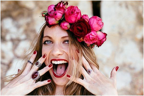 pink bridal crown