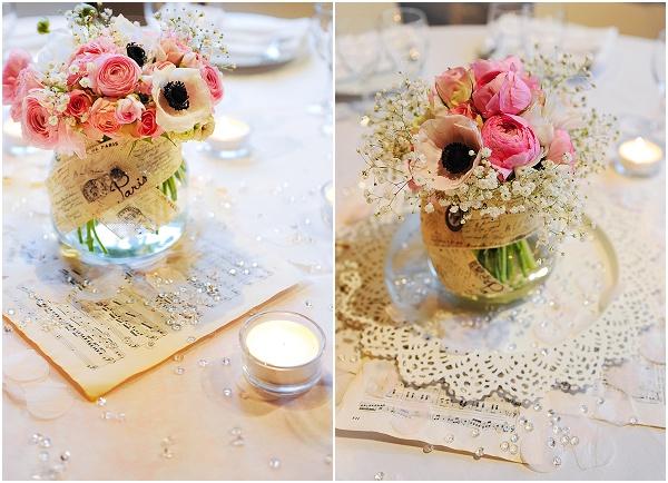 pink romantic wedding flowers