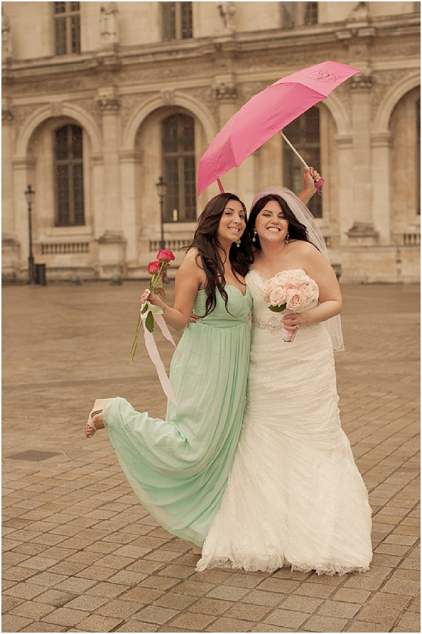 rainy wedding Paris