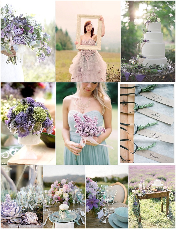 sage and lilac wedding inspiration