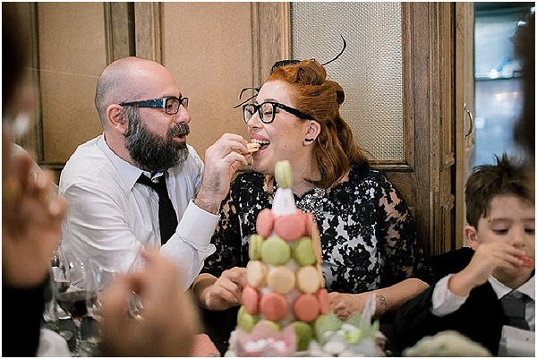 wedding macaron cake