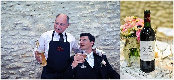wine french wedding