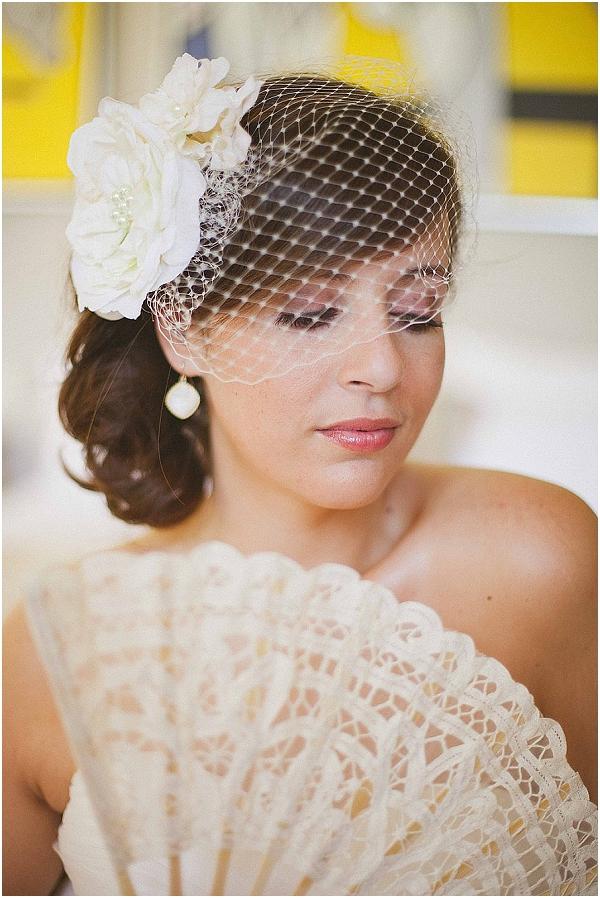 birdcage wedding veil