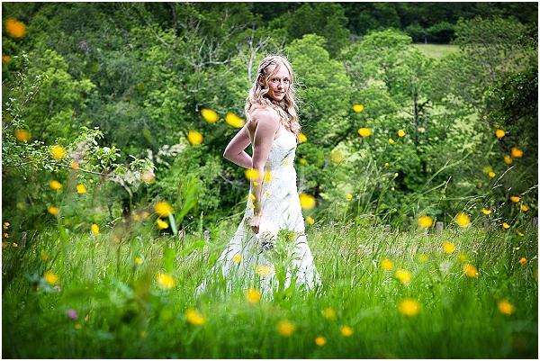 boho bride field
