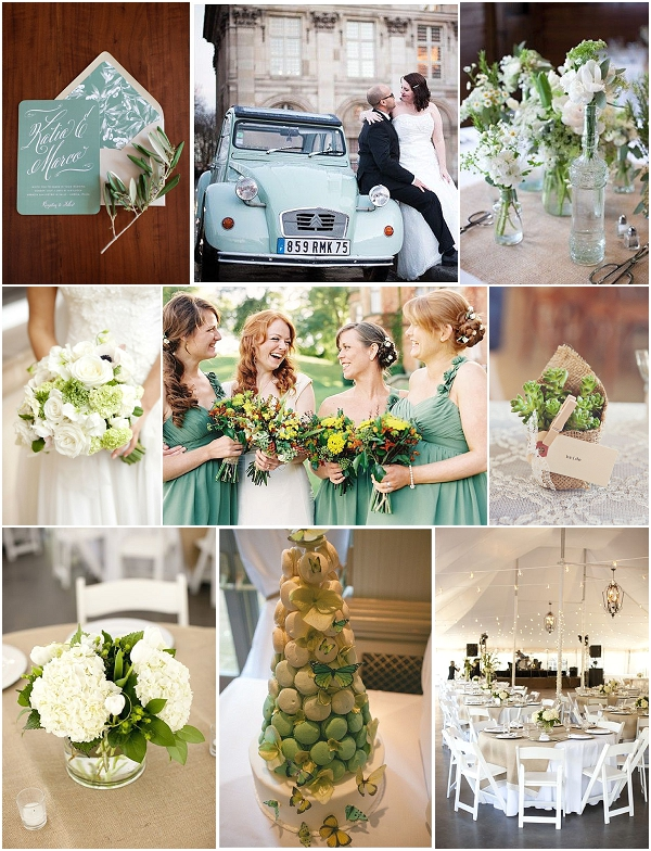 french country style wedding-green