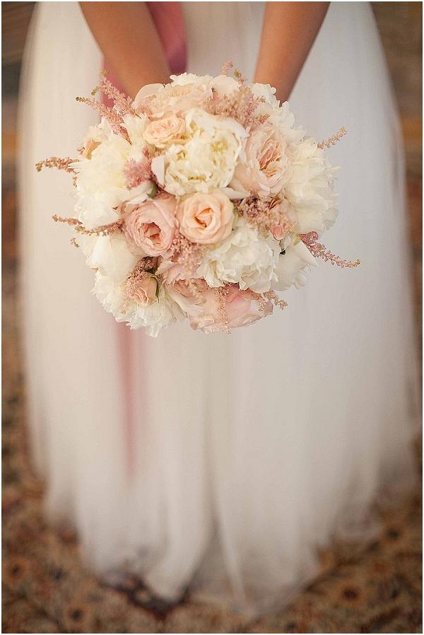 pink white wedding bouquet