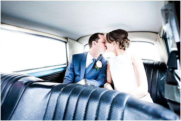 retro inspired wedding car tarn