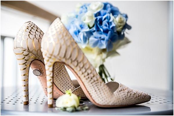 snake skin bridal shoes