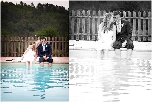 swimming pool wedding