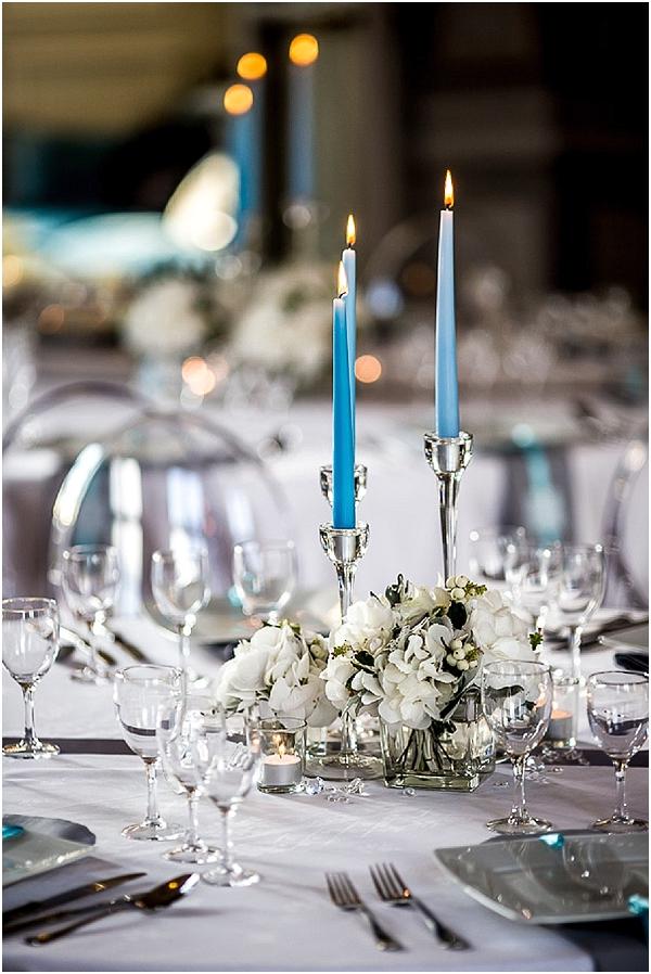 teal silver wedding