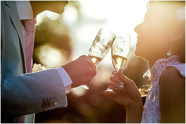 toast to happy couple