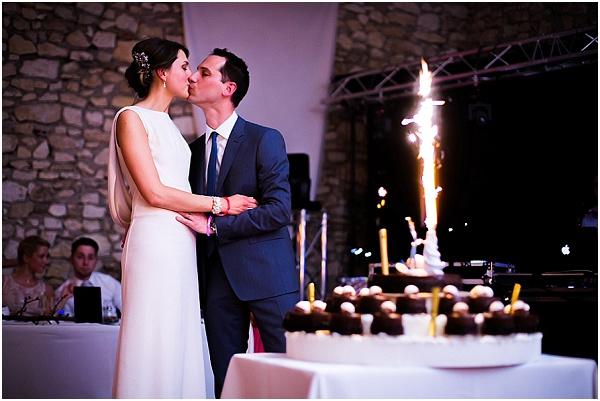 wedding cake France fireworks