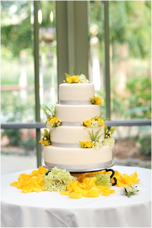 grey and yellow wedding cake inspired wedding at la caille 14982