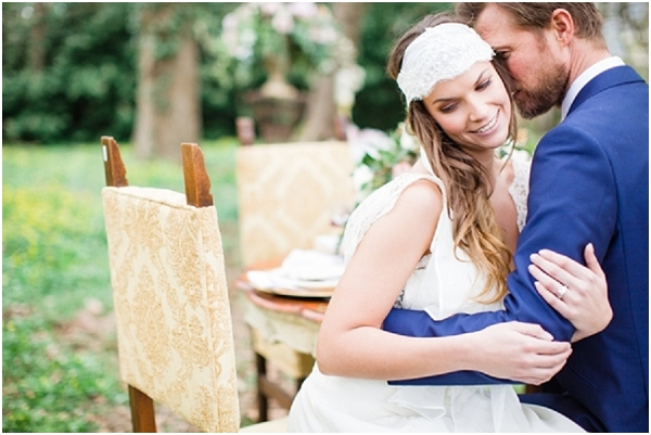 blue wedding suit