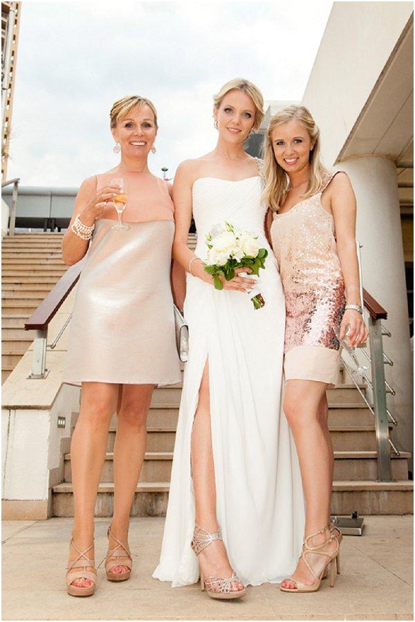 blush bridesmaids maid of honour