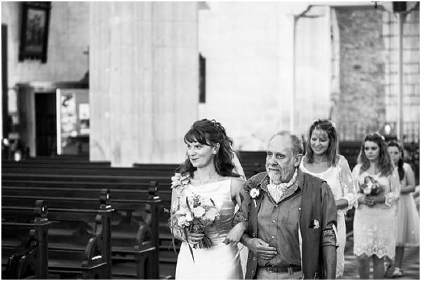 bridal procession into church