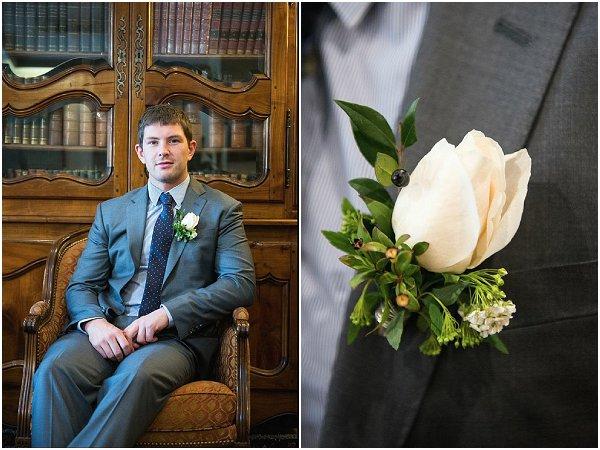 classic single white buttonhole