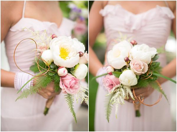 delicate bridesmaid bouquets