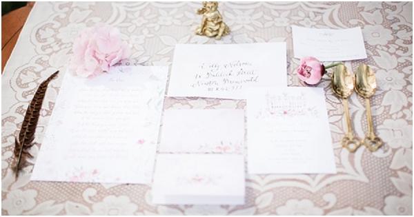 hand drawn wedding stationery