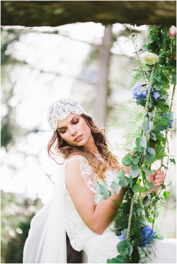 lace cap wedding veil