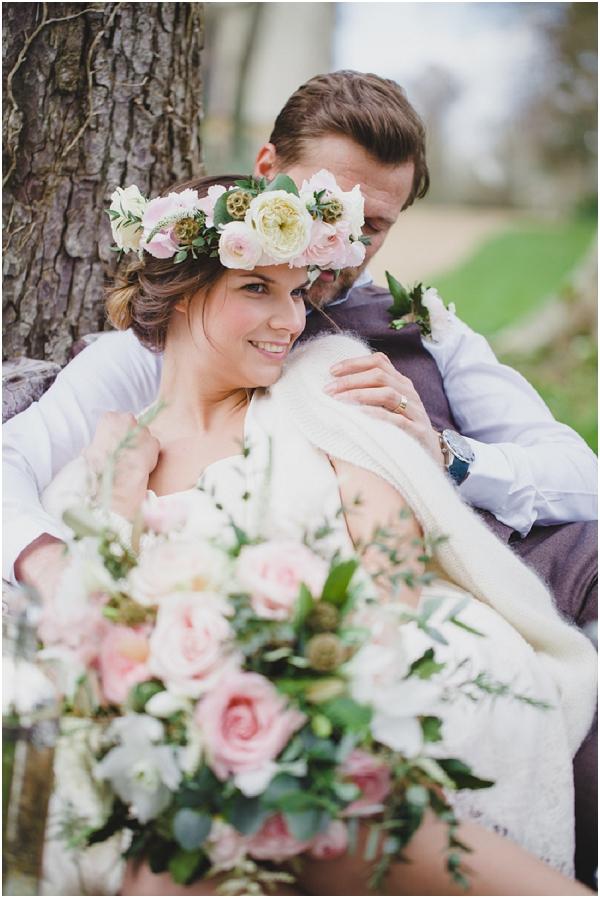 large floral bridal crown