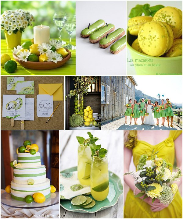 lemon lime wedding ideas