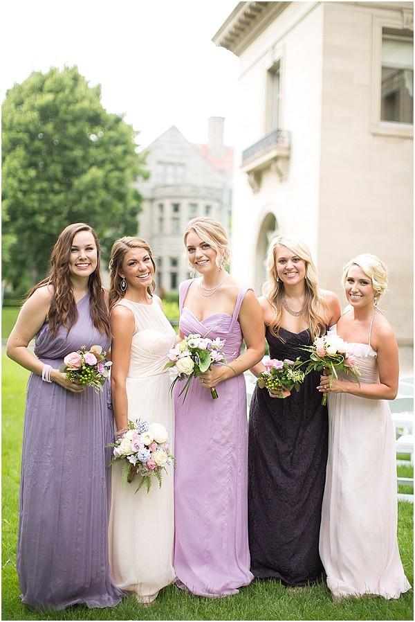 mix matched bridesmaids