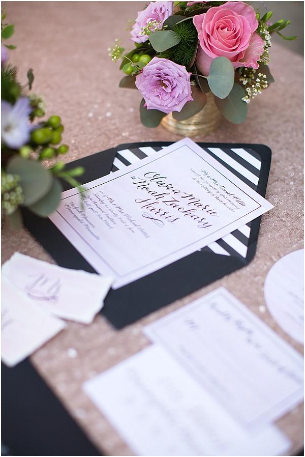 monochrome wedding invites