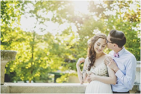 newlyweds paris park