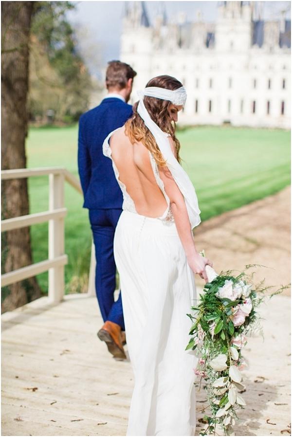 open back french wedding dress