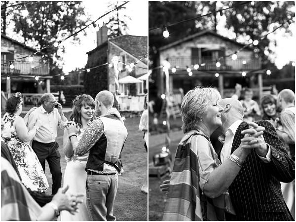 outdoor wedding dancefloor