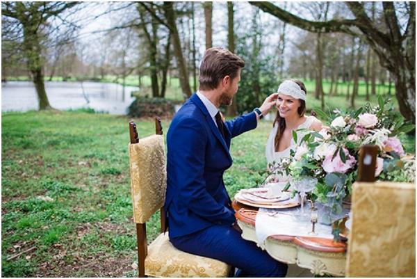 outside wedding table