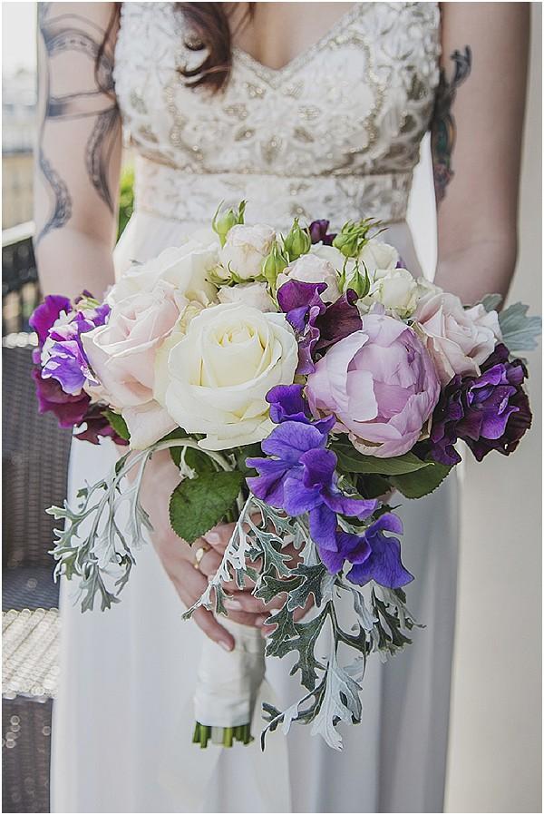 purple pink bouquet paris
