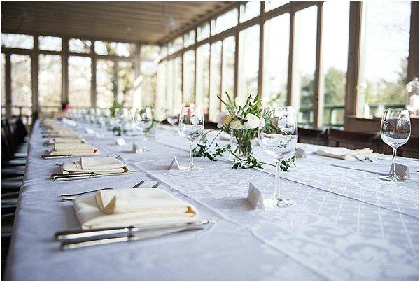 simple elopement wedding table
