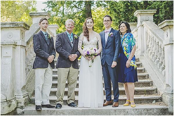 small family wedding paris