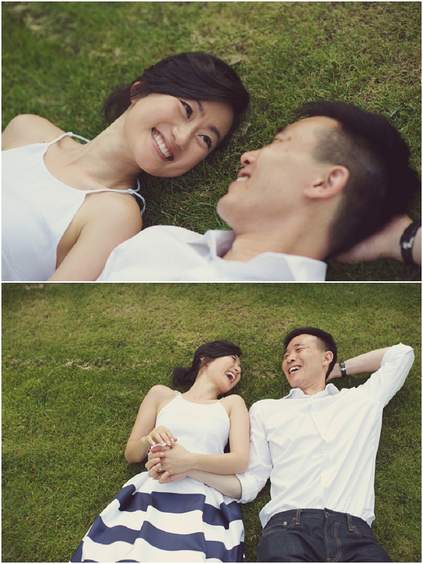 sweet engaged couple