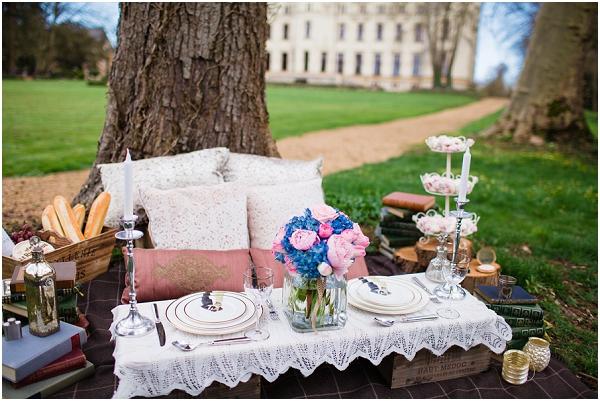 sweetheart picnic setting