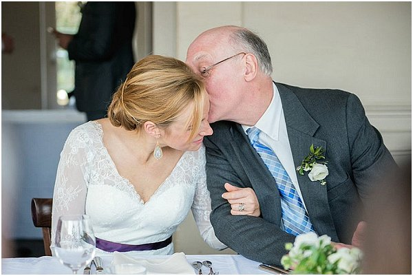 tender moment father bride