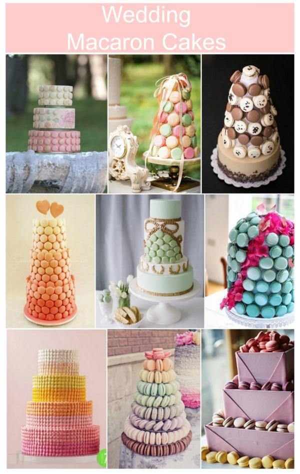 wedding macaron cakes