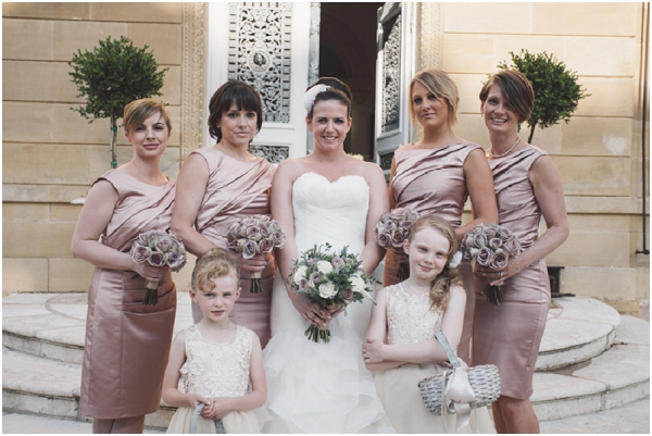 antique rose bridesmaids