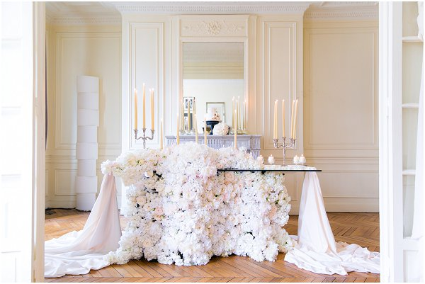floral wedding table