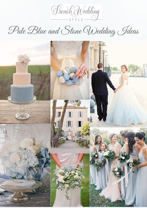 pale blue stone wedding ideas