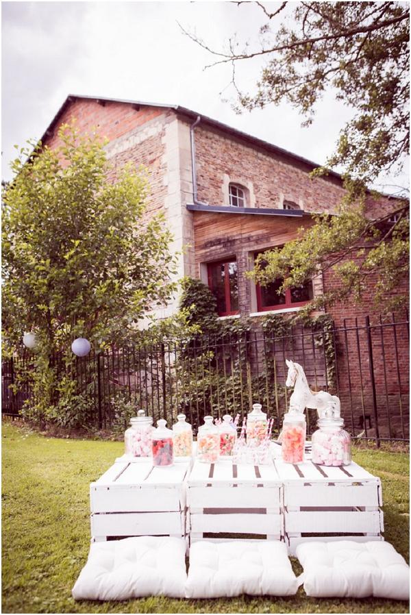 palet boxes in weddings