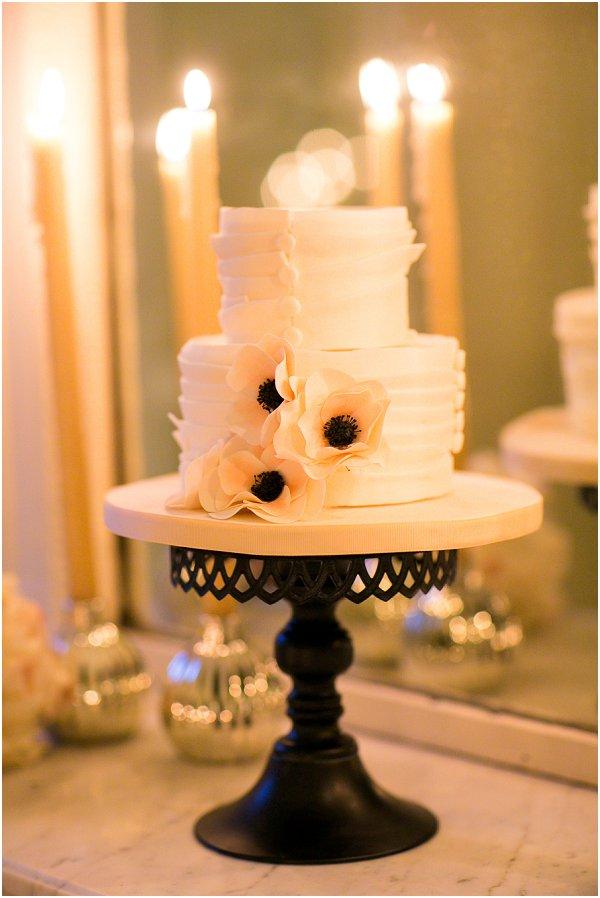paris white wedding cake