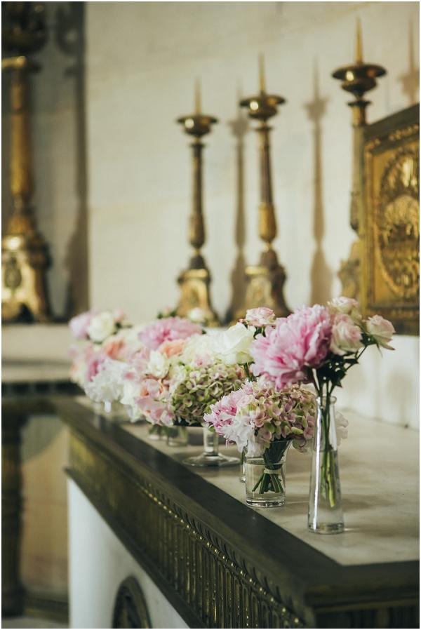 pink white wedding flowers
