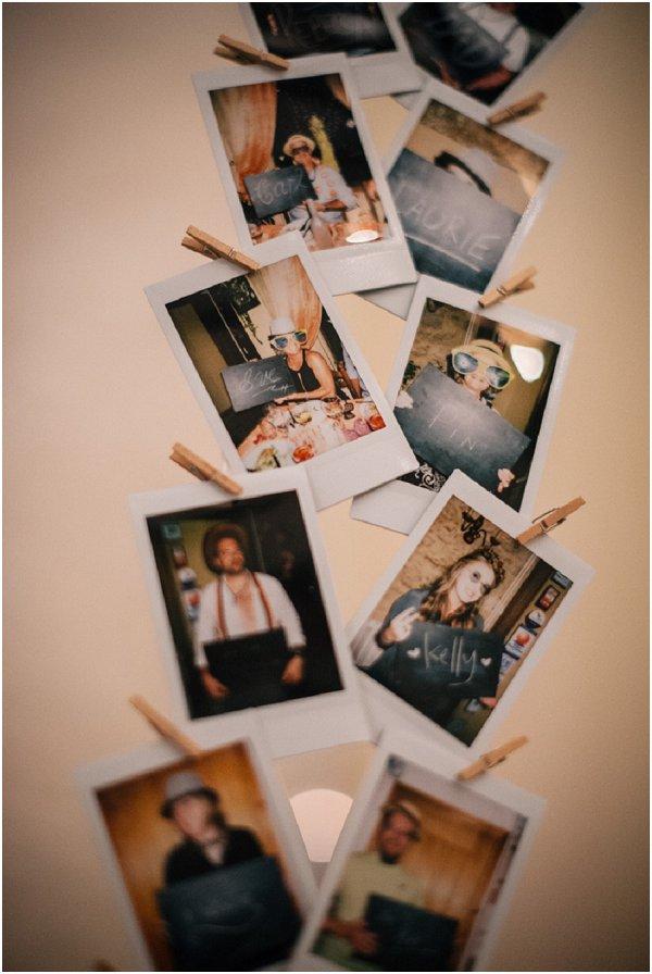 polaroids at weddings