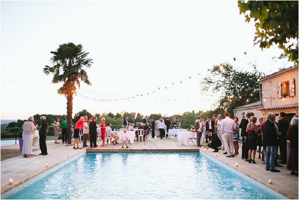 poolside wedding