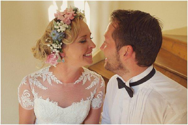 real flower bridal headband